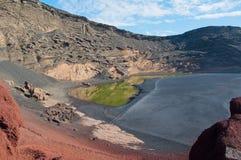 Ла Laguna de los Ciclos, Лансароте Стоковое Изображение RF