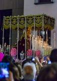 Ла Macarena, в шествии святой недели в Мадриде, 13-ое апреля 2017 Стоковая Фотография RF
