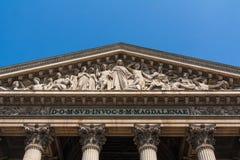 Ла Madeleine, римско-католическая церковь, Париж, Франция Стоковые Фото