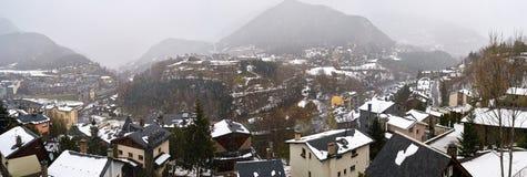 Ла Massana, Андорра, в зиме стоковое изображение