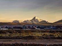 Ла Paz Huayna Potosi горы восхода солнца Стоковая Фотография