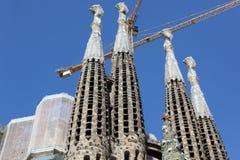 Ла Sagrada Familia - впечатляющий ca стоковые фото