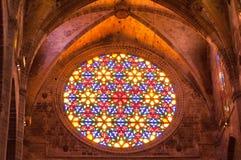 Ла Seu Palma de Mallorca собора Стоковые Изображения