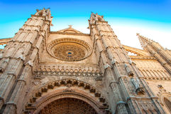 Ла Seu Palma de Mallorca собора Стоковое Фото