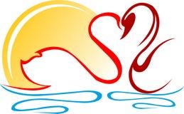 лебеди иллюстрация вектора