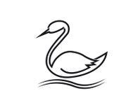 лебедь аиста стилизованный Стоковое фото RF