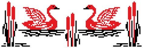 лебедь стежком иллюстрации Стоковое фото RF