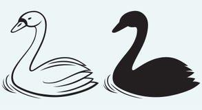 Лебеди на пруде иллюстрация штока