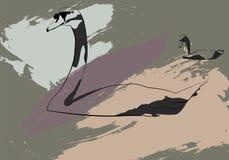 Лебеди силуэта Стоковые Изображения RF