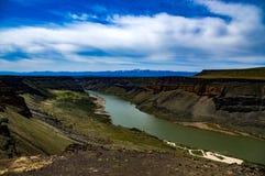 Лебедь падает каньон Стоковые Фото
