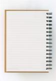 левая бумага страницы тетради рециркулирует Стоковое Фото