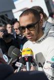 Левис Гамильтон - водитель Merecedes F1 Стоковые Изображения