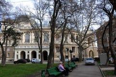 Левое крыло театра оперы и балета Одессы академичного стоковое фото rf
