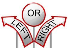 Лево или право иллюстрация вектора