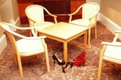 левые ботинки Стоковая Фотография RF