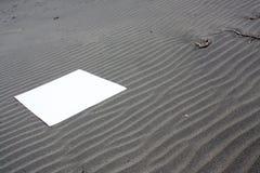 левый знак песка Стоковое Фото