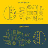 Левый и правый мозг действует концепция иллюстрация вектора
