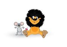Лев и мышь Стоковое Изображение RF