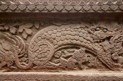 Лев на железной стене Стоковые Изображения RF