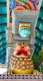 Лев на парадных ворота виска Mahamariamman на дороге Бангкоке Silom, известно вызванных как Wat Khaek, висок devi Умы Стоковое Фото