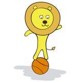 Лев на шарике Стоковые Изображения RF