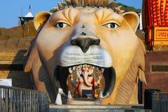Лев от виска Shiva, Индии Стоковые Фотографии RF
