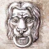 Лев с сферой Стоковые Фото