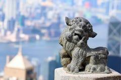 Лев традиционного китайския Hong Kong Стоковая Фотография RF