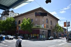 Легендарный Fillmore Сан-Франциско, 2 стоковые изображения rf
