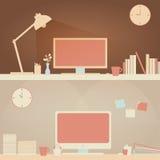 Легкая домашняя сцена стола & стола офиса Стоковое Изображение