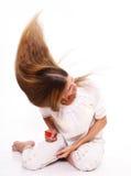 легкие волосы стоковая фотография