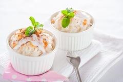 Легкий десерт - рис молока Стоковое Изображение