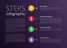 Легкий доработанный infographic дизайн шагов Стоковые Изображения