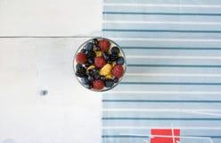 Легкий десерт лета для завтрака или закуски Стоковое Изображение
