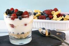Легкий десерт лета для завтрака или закуски Стоковое Фото