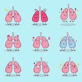 Легкий шаржа делает различную эмоцию Стоковые Изображения