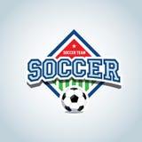 легко редактируйте футбол логоса к Шаблон дизайна логотипа значка футбола футбола, шаблон логотипа спорта Футболка футбола темати Стоковое фото RF