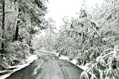 ледистая дорога стоковая фотография rf
