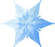 ледистая сделанная эскиз к снежинка Стоковые Фотографии RF
