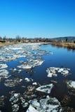 ледистое река стоковая фотография rf