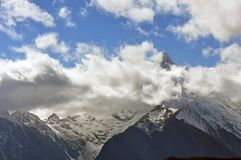 Ледники Mingyong горы снега Meili Стоковые Изображения