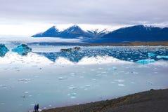 ледниковая лагуна jokulsarlon стоковая фотография