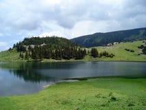 Ледниковое озеро в сельской местности Стоковая Фотография