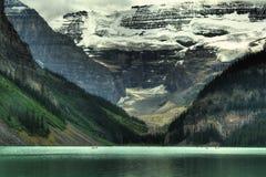 ледниковое озеро louise Канады Стоковое Изображение
