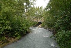 Ледниковый поток под мостом стоковая фотография rf