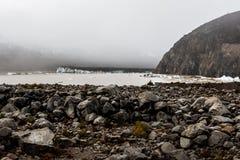 Ледник в гористой местности, Тибете, Китае стоковые изображения