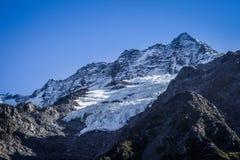 Ледник в долине, кашеваре держателя, Новой Зеландии стоковые изображения