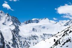 Ледник в лыжном курорте Solden Стоковые Изображения RF