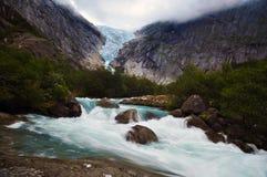 Ледник в Норвегии Стоковые Фотографии RF