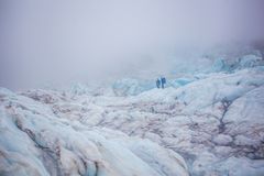 Ледник в Skaftafell, Исландии Стоковые Фото